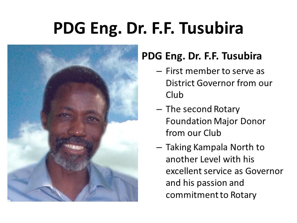 The Rotary Club of Kampala North - Hall of Fame Presentation
